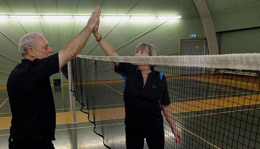 Окружной турнир по бадминтону посвященный Дню пожилого человека